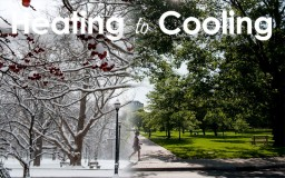 composite image of winter morphing into summer