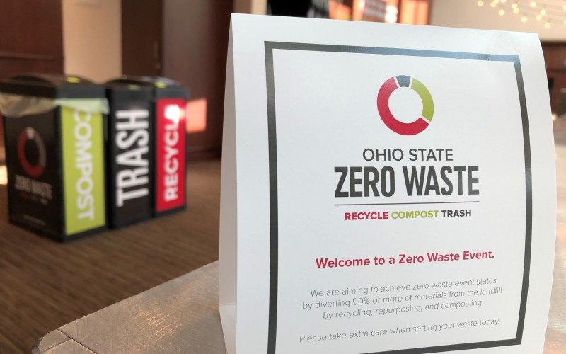 photo of zero waste bins