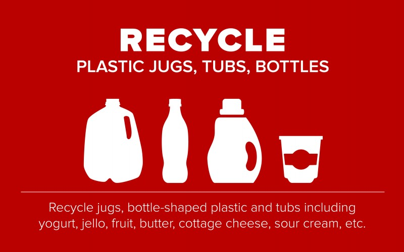 Recycle tubs and jugs graphic